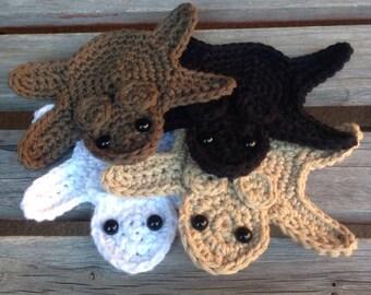 Crochet Faux Bearskin Coaster