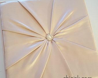 SAMPLE Luxurious 2 piece Silk Box Wedding Invitation with Bling