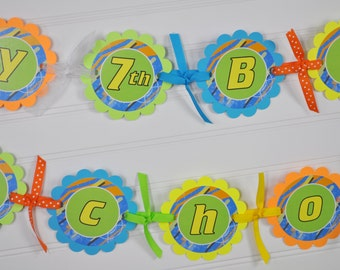 Boys Birthday Banner, Laser Tag Party Banner, Dart Blaster Gun Party, Happy Birthday Banner, Birthday Party Decorations, Personalized Banner