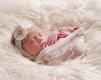 Extra Large light cream faux fur, newborn photo prop, alpaca faux fur