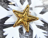 Metal Buttons - Starry Night Star Metal Buttons , Oxidized Brass Color , Shank , 0.79 inch , 10 pcs