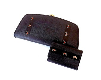 1950s Clutch Wallet Set Non Leather