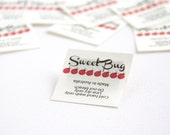 """105 - 1.5"""" x 1.5"""" -. In-seam fold style sewing label."""