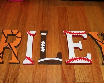 Sports Wall Letters Etsy