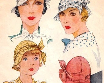 "1933 McCall Pattern #112 - size 22"" Head *Reproduction pattern*"