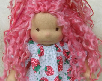 RESERVED for huntingNC - Sonya -Sitting style Waldorf Inspired Doll , 8 inch
