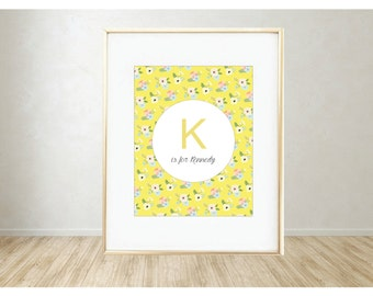 Personalized Printable Art: K is for...