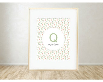 Personalized Printable Art: Q is for...
