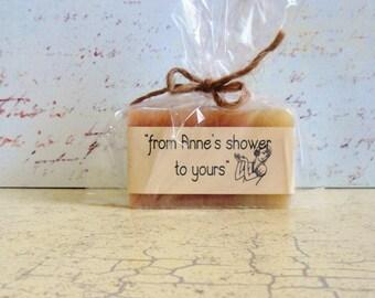 Bridal Shower Favors - VeganFavors - Natural Soap - Baby Shower - Shower Favors -