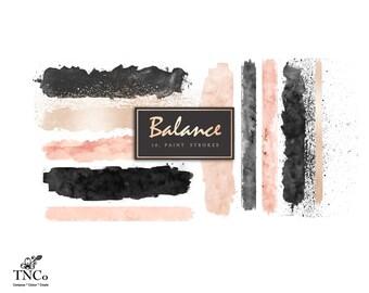 watercolour clip art - Paint splatter clipart - Watercolour paint strokes clip art - Brush strokes clip art - Clip art commercial use - TNCo