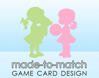 Made-to-Match Game Card or Bingo Card Design . Digital File - to coordinate with SSC Card Design