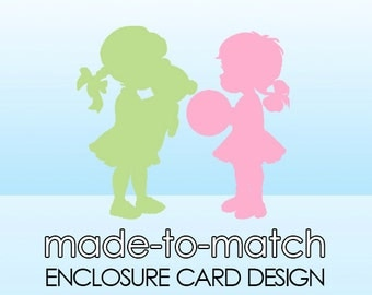 Made-to-Match Enclosure or Insert Card Design . Digital File - to coordinate with SSC Card Design