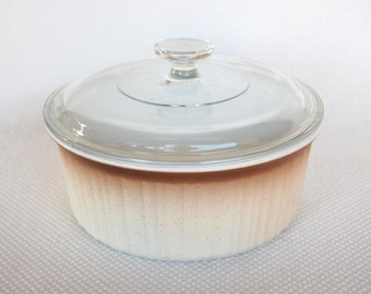Vintage Corning Ware 2.5 Quart 2.5 Liter French Bisque F-1-B Covered Casserole Only One Year Production circa 1982