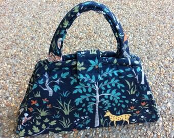 Enchanted Forest Dark Blue Handbag