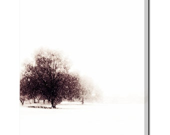 Winter Canvas   Large Canvas   Tree Canvas   Alone N The Cold   Minimalist  Canvas