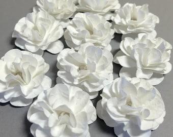 Handmade Mini Paper Flowers White
