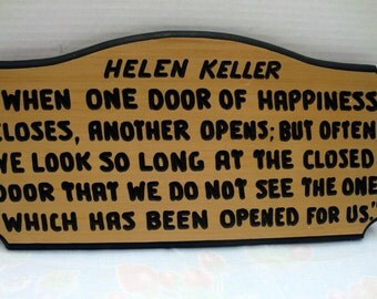 Wood Carved Plaque