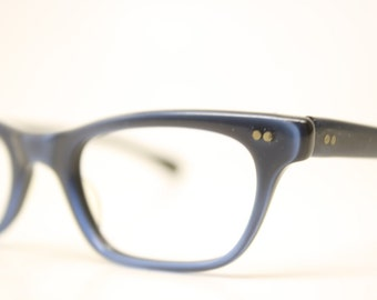 NOS Blue Cat Eye Glasses Unused vintage cateye frames eyeglasses NOS