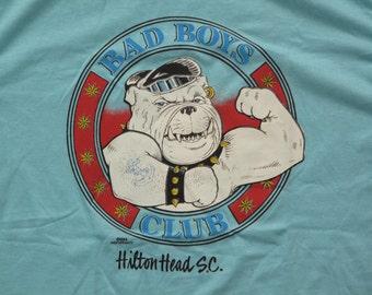 vintage bulldog hilton head souvenir t shirt