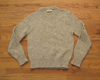 mens vintage LL Bean ragg wool sweater
