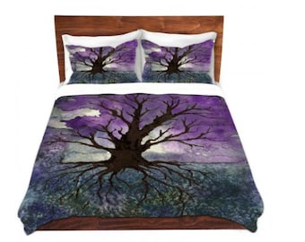 Duvet Cover Tree of Life Painting - Nature Modern Bedding - Queen Size Duvet Cover - King Size Duvet Cover