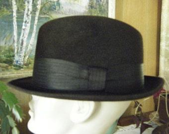 Vintage 1940's Mens  CHAMP Fedora HAT  7 1/4 silk finish Sharp Looker never worn?