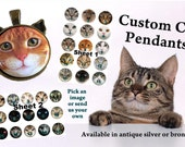 Custom Cat Pendant, Cat Ear Pendant, Cat Face Pendant, Cat Necklace, Cat Jewelry, Cat Face Jewelry, Cat Rescue, Bronze Cat Jewelry