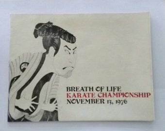 Breath of Life Karate Championship vintage program, University of Minnesota, 1976
