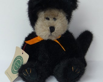 Boyds Bear The Archive Collection Tan Bear with Black Cat Costume