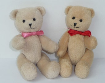 Pair of Bitty Baby Bears American Girl Pleasant Company Small Jointed Teddy Bear