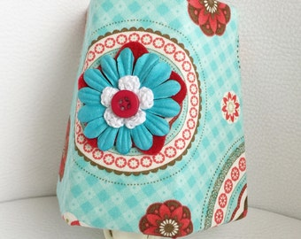 SALE!! Night Light - Aqua and Red Floral Medallion - Girl's - Night Light