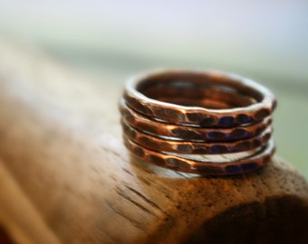 Copper Rings, Pure Copper Rings, copper jewelry, Oxidized, Copper Rings, Arthritis Rings, Sturdy Copper Ring