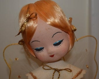 Vintage Musical Rotating Blonde Angel Japan, plays Silent Night Circa 1960's