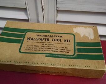 Vintage Workmaster Wallpaper Tool Kit Sears Roebuck 1950