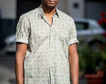 Vintage Cacharel Short-Sleeved Paisley Shirt
