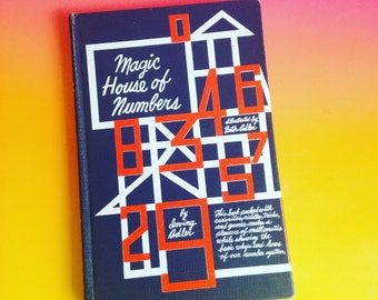 Magic House of Numbers Vintage Book about Math - Homeschool - Make Learning fun!