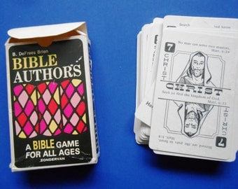 Bible Authors, A Bible Game for All Ages, a Vintage Card Game