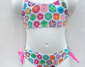 Girl swimsuit multi-color two-piece 4T