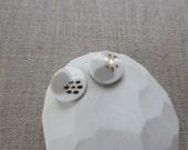 Pebble Inlay Stud Earring...