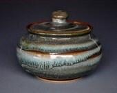 Stoneware Pottery Sugar Bowl Ceramic Small Jar J