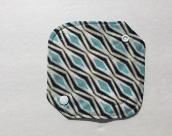 "All In One Cloth Panty Liner Organic Cotton Fleece 6.5"" Raindrop"