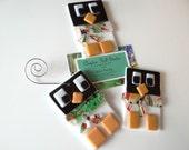 Fused Glass Ornament - Square Penguin