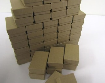 100 Pack Kraft Boxes (2.5 x 1.5 x 1 in) // ECONOMY SIZE