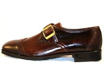 Size 7.5 Men's Shoes - 1950s Oxblood Leather Oxford Mens Dress Shoes - Size 7 1/2 - Deadstock - Original Box - As Is - John Stacey - 32615-1