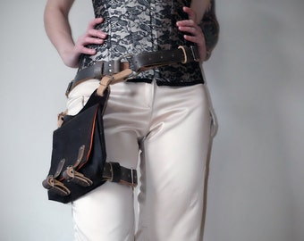 Jyn Erso Inspired Real Leather Belt Holster Brown By Vontoon