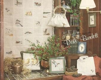 "Vintage Dale Burdett ""Everything's Just Ducky"" Cross Stitch Leaflet"