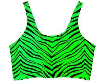 Green Zebra Sporty Bra