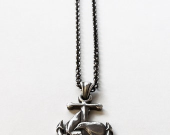 "Miyu Decay ""Amor et Fidelitas"" Anchor Sterling Silver Necklace"