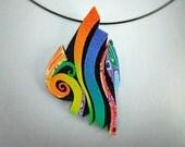 AD Only! BUY FROM CraftArtEdu link http://craftartedu.com/ann-kruglak-rainbow-crazy-stripe-pendant