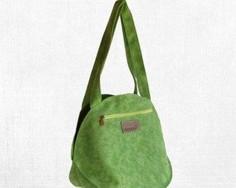 Summer SALE, Convertible backpack purse in green, summer shoulder bag, canvas tote bag, green fabric bag, lightweight, carry all bag, women